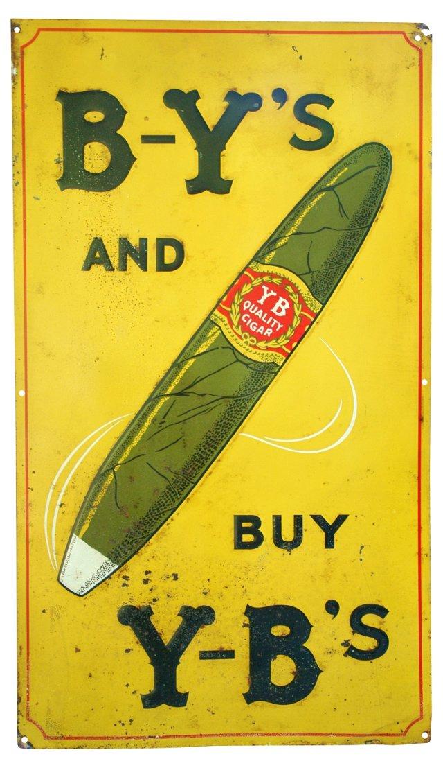 1930s Metal Cigar Advertisement Sign