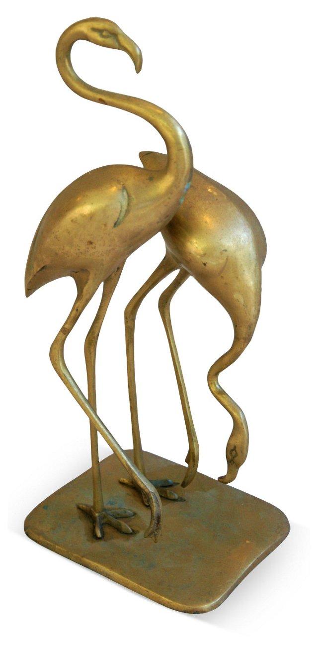 1950s Brass Flamingos
