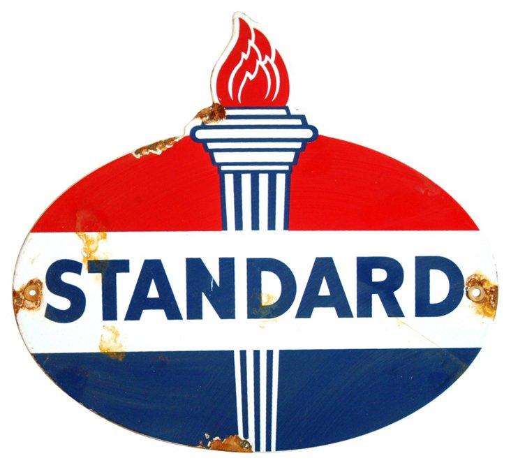Porcelain     on Metal Standard Gas Sign