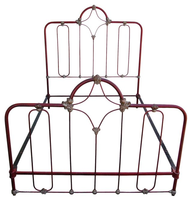 Antique    Wrought Iron Bed Frame, Full