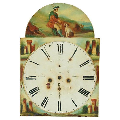 Antique Hand-Painted Scottish Clock Face