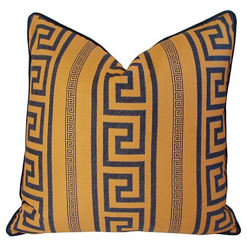 Pierre Frey Greek Key & Velvet Pillow