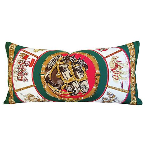 Hermès Chevaux Trait Equestrian Pillow