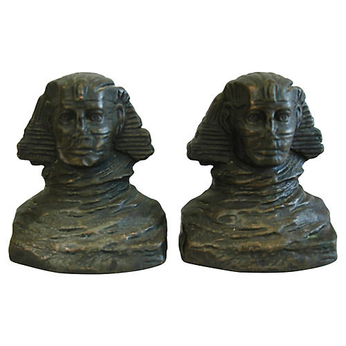 Sphinx Antique Bookends by Armor Bronze