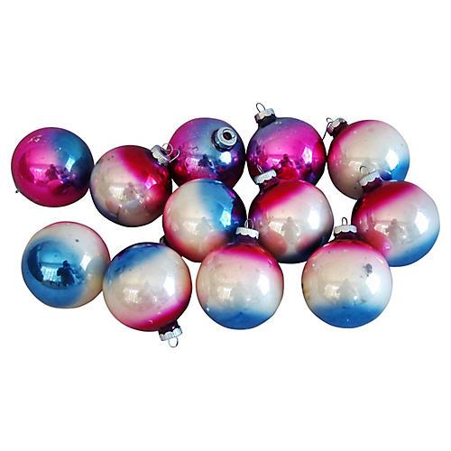 Ombré Christmas Ornaments, S/12