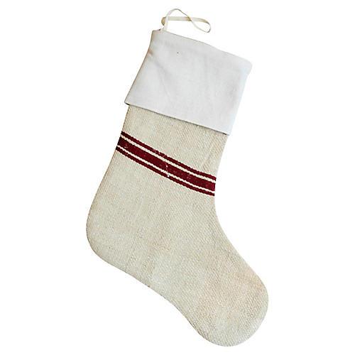 European Textile Christmas Stocking