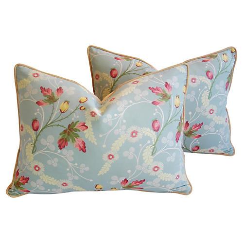 Scalamandré Floral Brocade Pillows, Pr