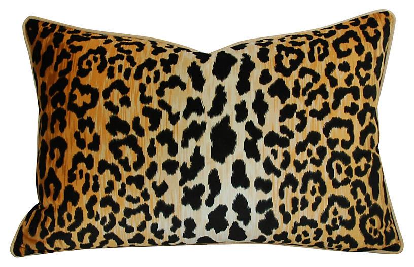 Leopard Spot Safari Velvet Pillow