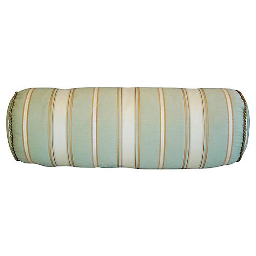 Scalamandré Striped Silk Bolster Pillow