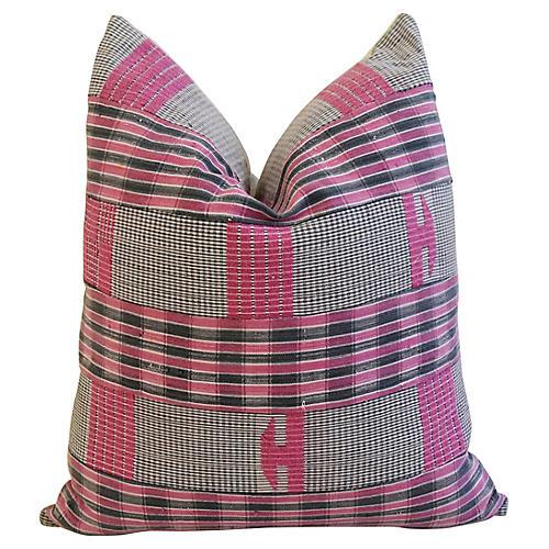 Boho-Chic Mali Woven Tribal Pillow