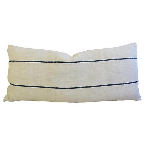 "52"" Long French Homespun Body Pillow"