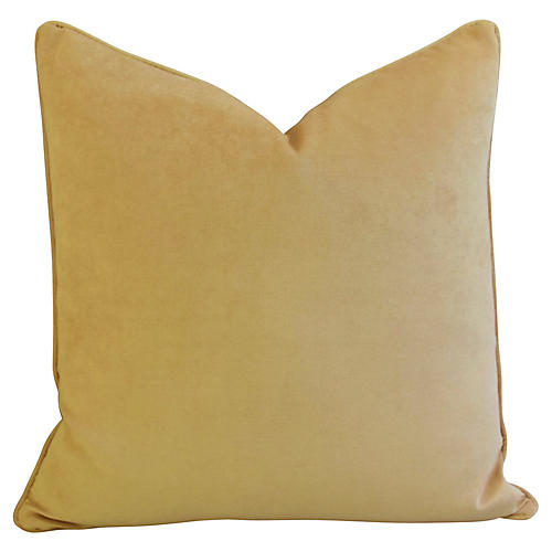 Rich Golden Velvet Pillow