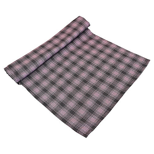 Black & Pink Plaid Tartan Table Runner