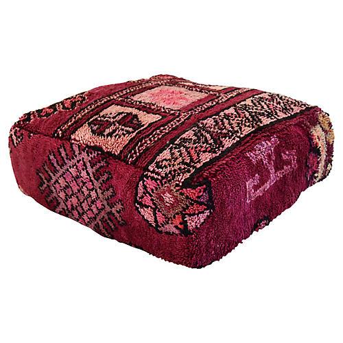 Moroccan Kilim Floor Pouf