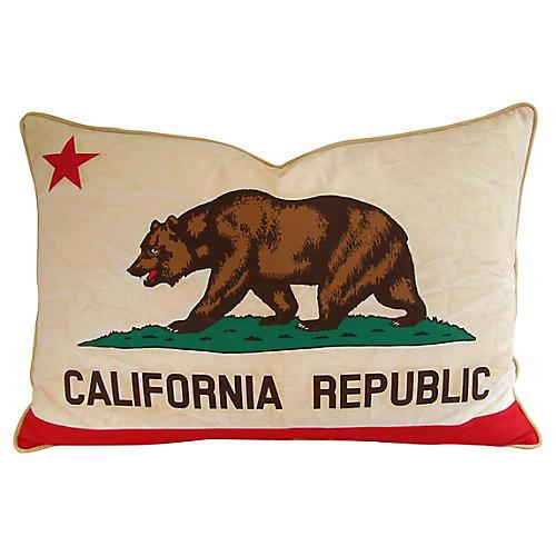 California Republic Bear Flag Pillow