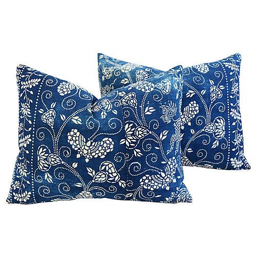 Shanghai Batik Chinoiserie Pillows, Pr