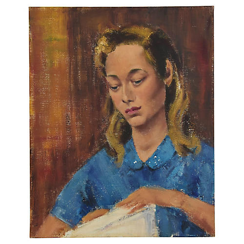1960 Dorothy Neal, Portrait Oil Painting