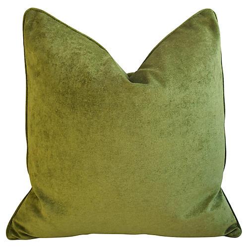 Rich Forest Green Velvet Pillow