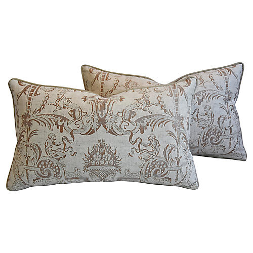 Fortuny Italian Mazzarino Pillows, Pair
