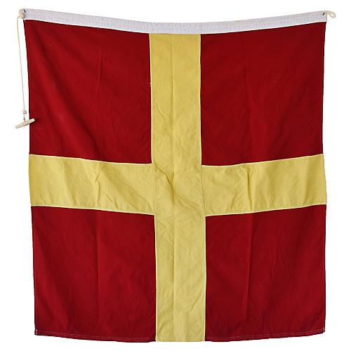 """Maritime Nautical Naval Signal """"R"""" Flag"""