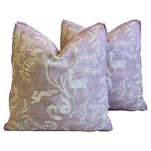 Lisa Fine Pandora Linen Pillows, Pair