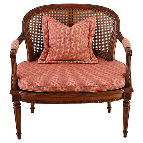 1940s Cane Settee W/ Cushion U0026 Pillows