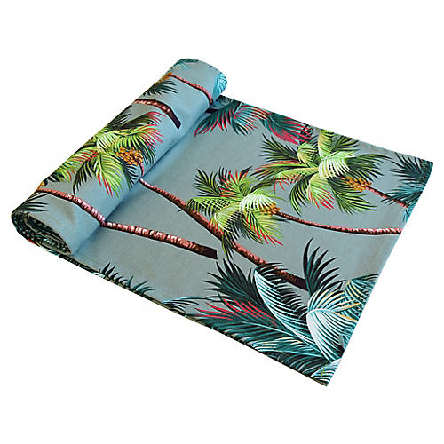 Tropical Paradise Palm Tree Table Runner