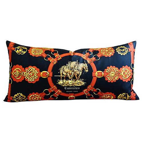 Hermès Equestrian Horse Silk Pillow