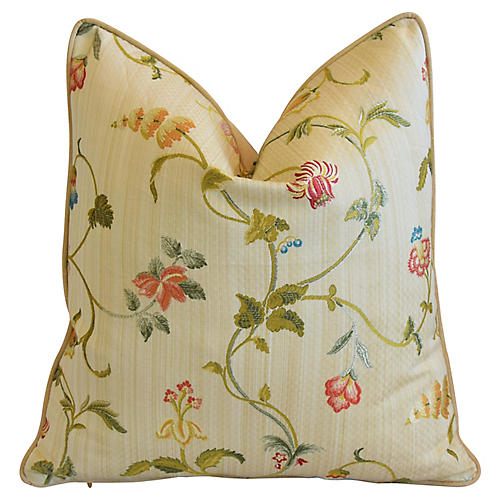 Scalamandré Trailing Floral Pillow