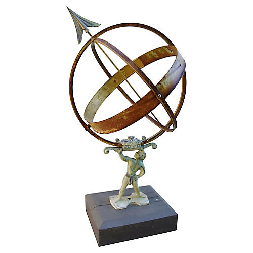 Garden Armillary Sphere on Base