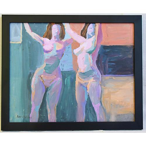 Ray Cuevas, Plein Air Oil Female Nudes