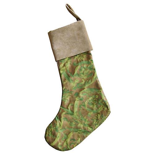 Italian Fortuny Christmas Stocking