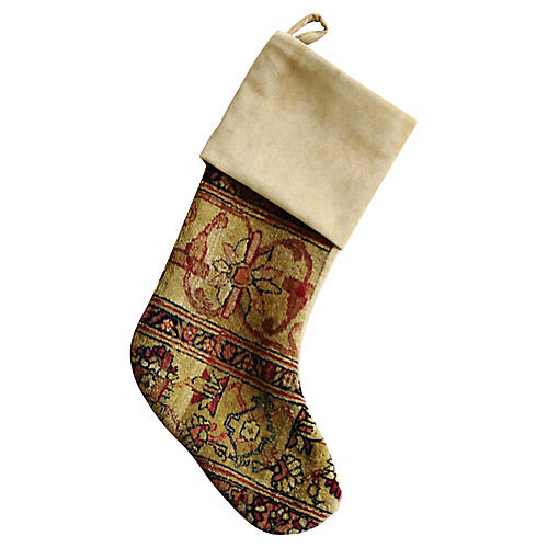 Soumak Rug Christmas Stocking