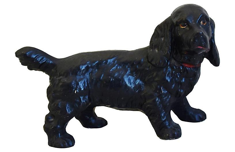Vintage Cast Iron Dog Figure