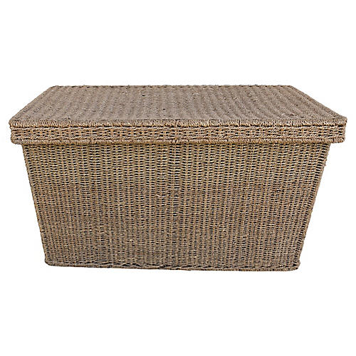 Hand Woven Seagrass Trunk/Coffee Table