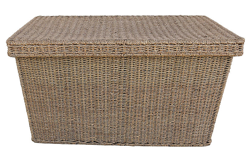 Hand Woven Seagrass TrunkCoffee Table Furniture Sale By - Woven trunk coffee table