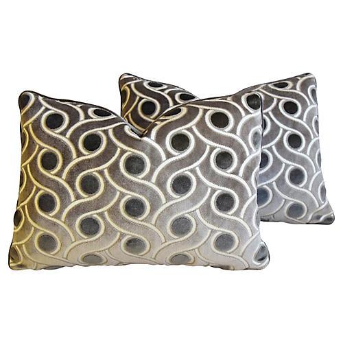 Osborne & Little Cut Velvet Pillows, Pr
