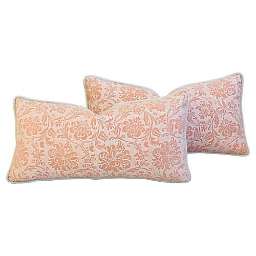 Italian Mariano Fortuny Pillows, Pair