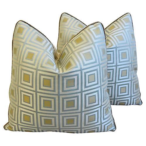 Kravet & Scalamandré Velvet Pillows, Pr