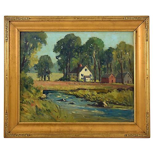 Lillian B. Lunt, Landscape Oil Painting