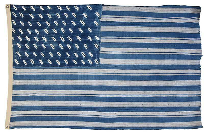 Indigo Blue Amp White African Textile Flag Mike Seratt