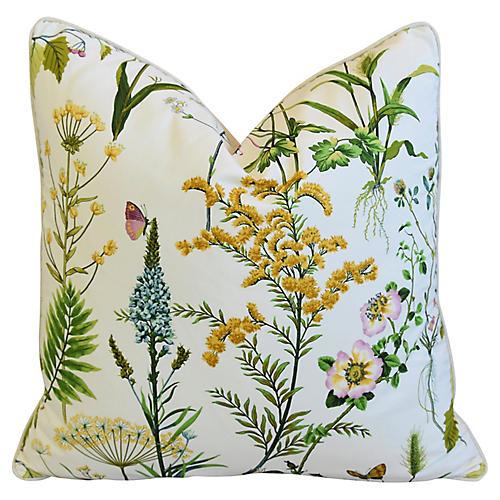 Cotton & Linen Wildflower Pillow