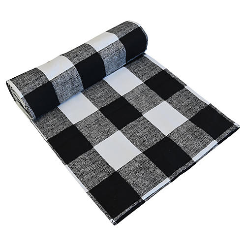 Black/White Buffalo Check Table Runner