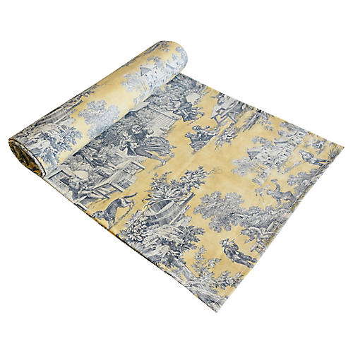 French Country Toile Table Runner