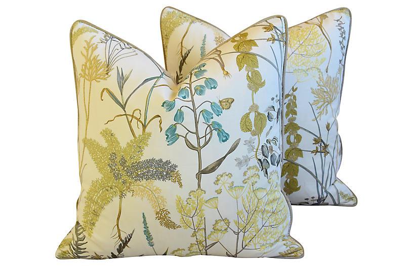 Wildflower Pillows, Pair
