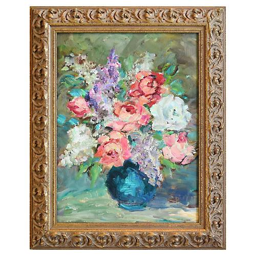 Midcentury Floral Still Life
