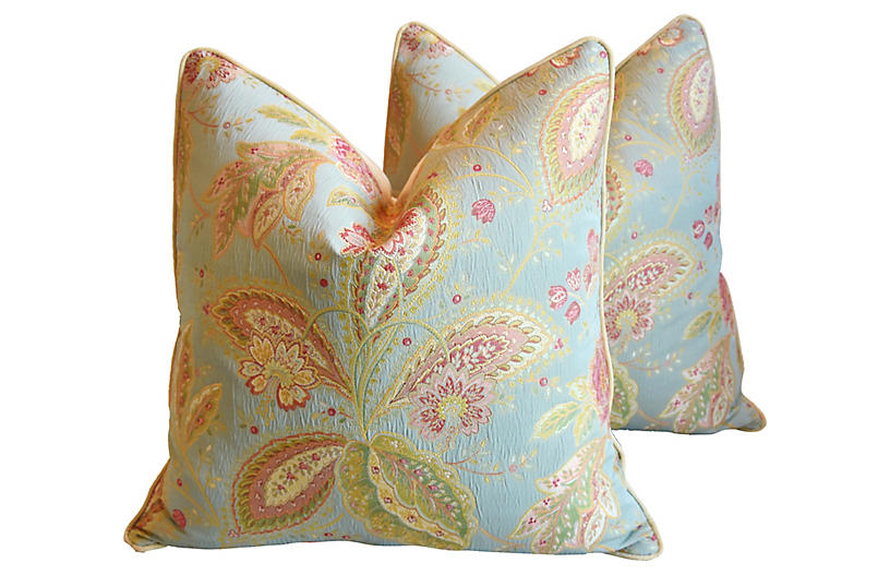 French Floral Pillows, Pair