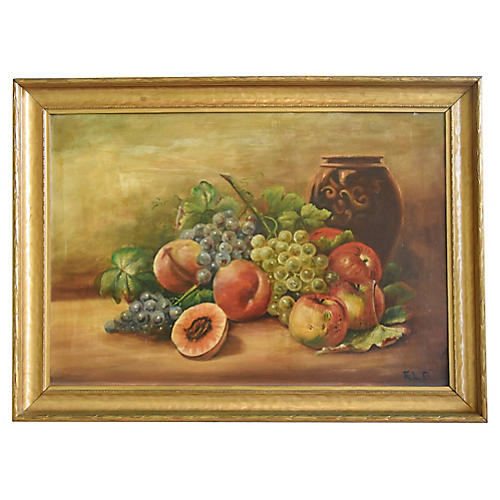 Antique Fruit Still life Painting