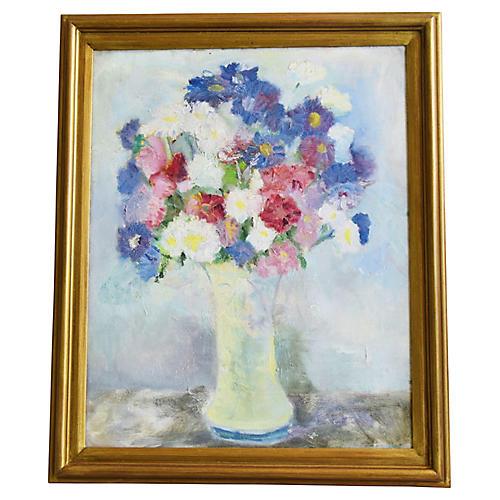 Floral Arrangement in Vase Painting