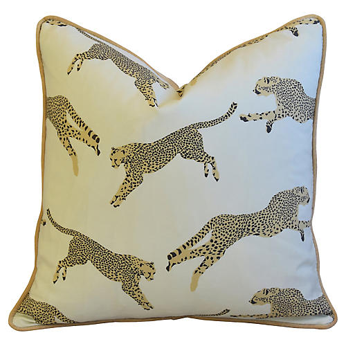 Cheetah & Velvet Pillow